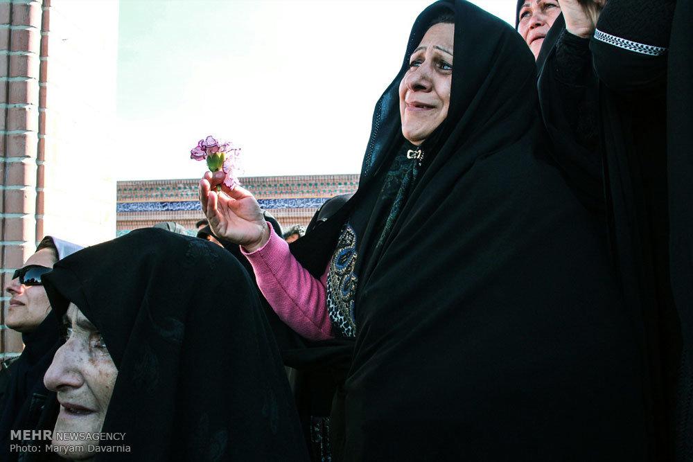 مراسم تشییع  دو شهید مدافع حرم در بجنورد