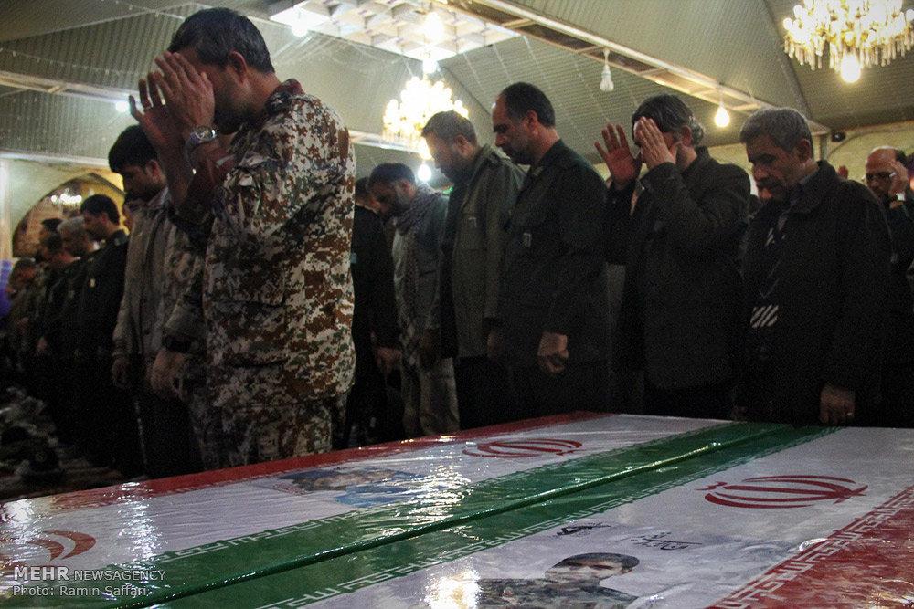 تشییع پیکر سردار شهید قاجاریان در مشهد