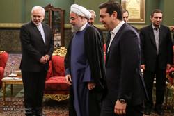 دیدار آلکسیس سیپراس نخست وزیر یونان با حجت السلام حسن روحانی رئیس جمهور