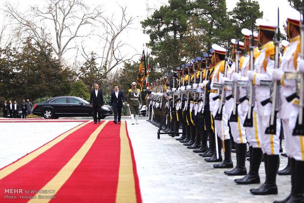 مراسم استقبال رسمی از نخست وزیر یونان