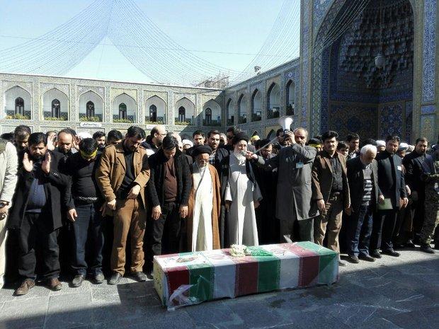 پیکر پاک شهید مدافع حرم در مشهد تشییع شد