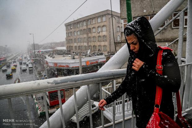 Tehran on a Snowy day
