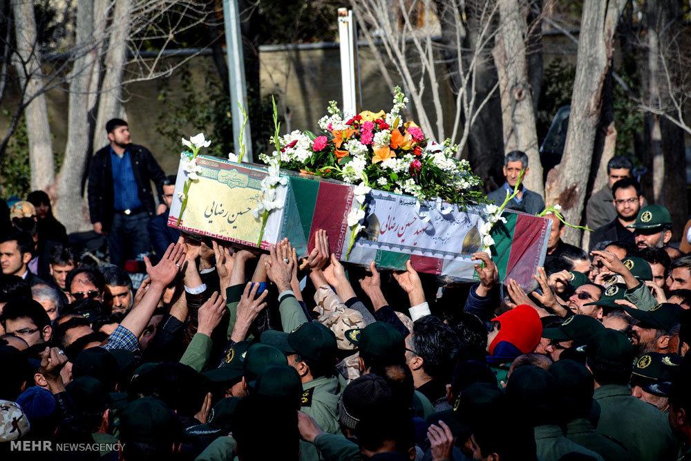 مراسم تشییع پیکر مطهر شهید مدافع حرم حسین رضایی