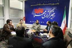 بازدید امیر فرزاد اسماعیلی فرمانده قرارگاه خاتم الانبیا از خبرگزاری مهر