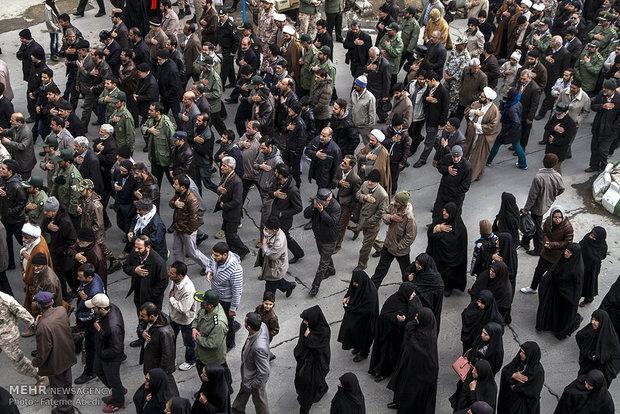 مراسم تشییع پیکر دومین شهید مدافع حرم اراک