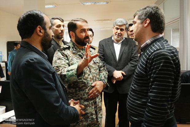 زيارة قائد الدفاع الجوي لوكالة مهر للانباء