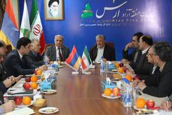دیدار مدیرعامل منطقه آزاد ارس با سفیر ارمنستان