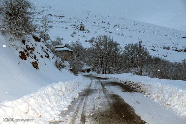 بارش برف زمستانی  در رحیم آباد رودسر