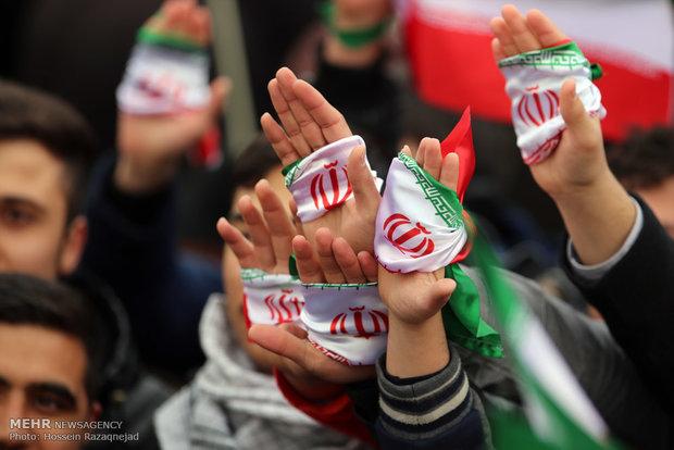 ساعات اولیه راهپیمایی یوم الله ۲۲بهمن در تهران