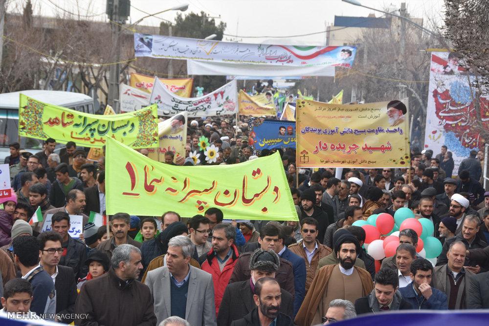 راهپیمایی یوم الله۲۲ بهمن در شهرضا