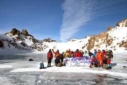 Climbing Mount Sabalan in winter