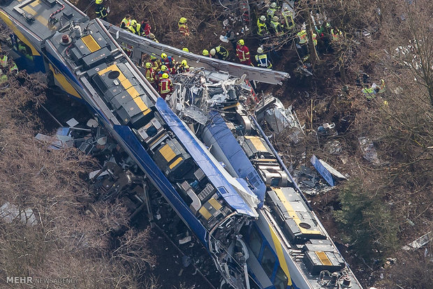 جرمنی میں دو ٹرینوں کے درمیان تصادم