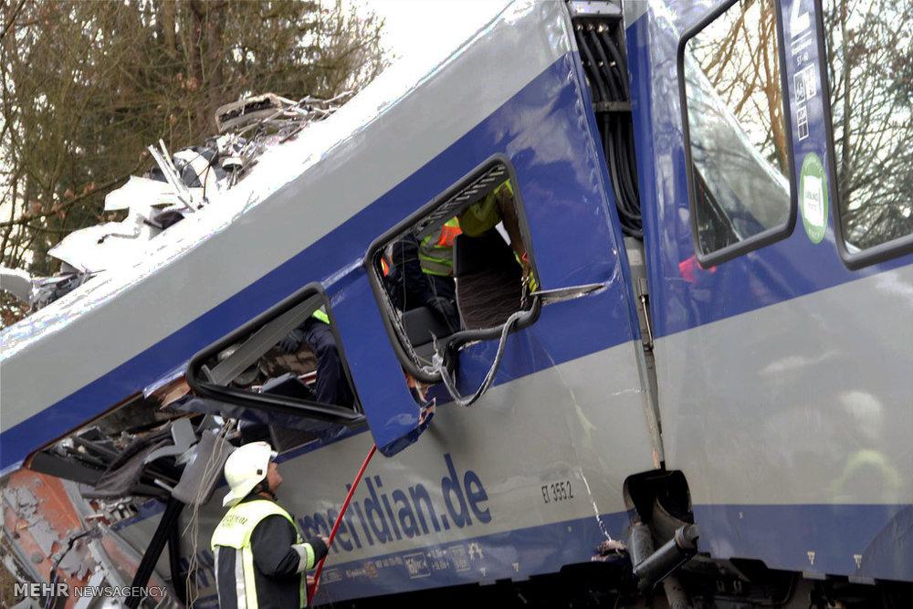 تصادف دو قطار در آلمان