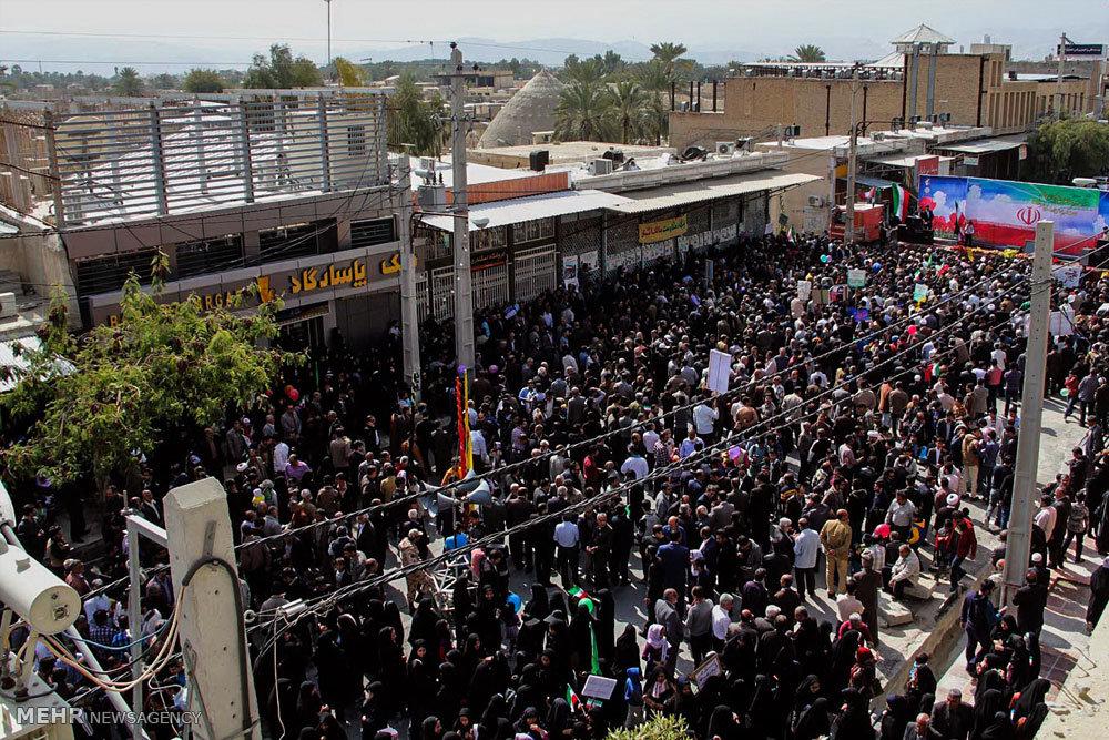 راهپیمایی یوم الله ۲۲بهمن در لارستان