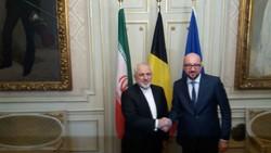 جلسة تشاورية بين ظريف و رئيس وزراء البلجيكي