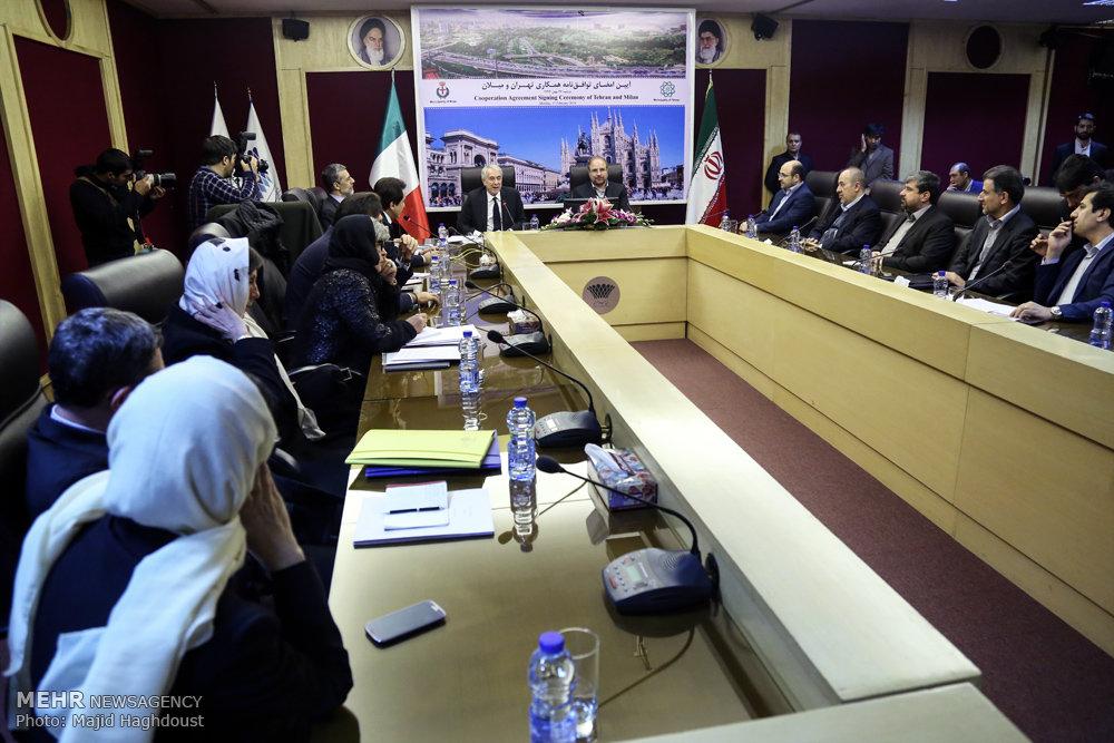 Tehran, Milan sign cooperation agreement