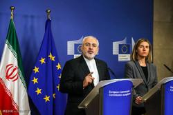المؤتمر الصحفي لوزير الخارجية الايراني ومسؤولة السياسة الخارجية في الاتحاد الاوروبي
