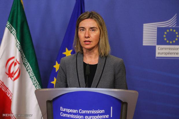 کنفرانس خبری مشترک وزیر خارجه و مسئول سیاست خارجی اتحادیه اروپا