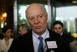 De Mistura arrives in Damascus to meet with Syrian FM