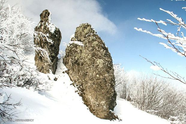 Beautiful nature of Ardebil in winter