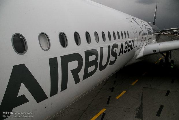 فرود اولین هواپیمای ایرباس ۳۵۰