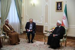 دیدار وزیر خارجه عمان با رئیس جمهور