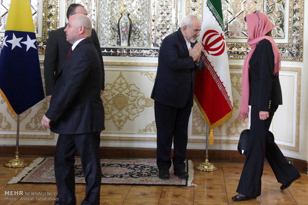 لقاء وزير الخارجية الايراني ونظيره البوسني
