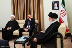 دیدار رئیس جمهور آذزبایجان با رهبر معظم انقلاب