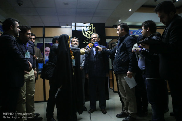 Iran's first VP visits election campaign