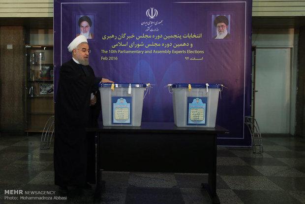 Rouhani casts ballot