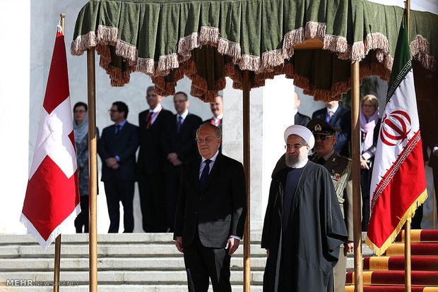 تہران میں سوئیزرلینڈ کے صدر کا باقاعدہ استقبال