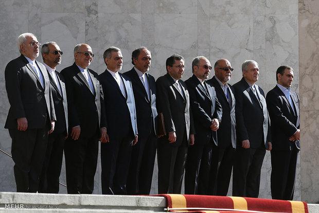 مراسم استقبال رسمی از رييس جمهوري کنفدراسیون سوئیس