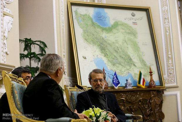 دیدار رئیس جمهور سوئیس با رئیس مجلس شورای اسلامی