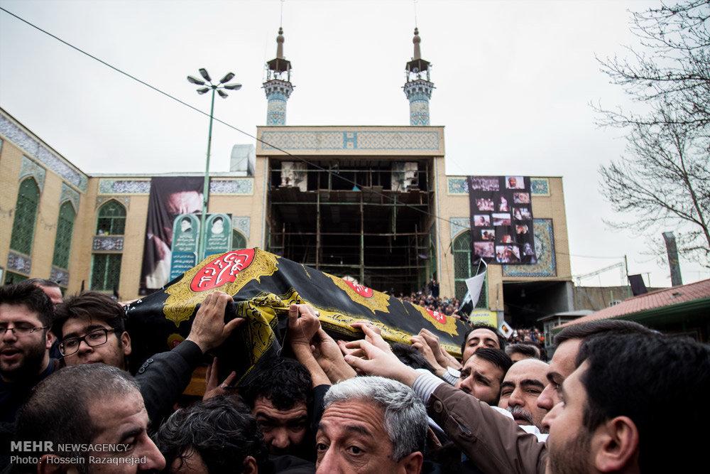 مراسم تشییع پیکر مرحوم فرج الله سلحشور
