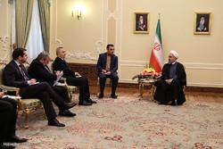 رومانیہ کے وزیر خارجہ کی صدر روحانی سے ملاقات