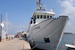 Türk gemisi Filistin kıyılarında yandı
