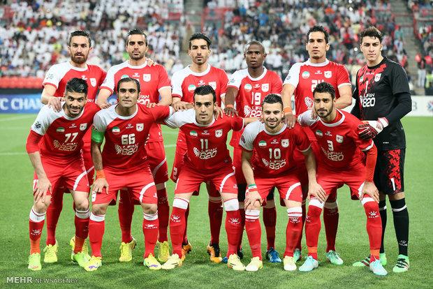 دیدار تیم های فوتبال تراکتورسازی تبریز و الجزیره امارات