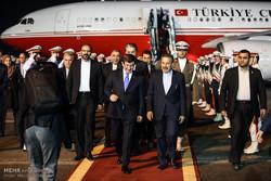 ورود نخست وزیر ترکیه به تهران