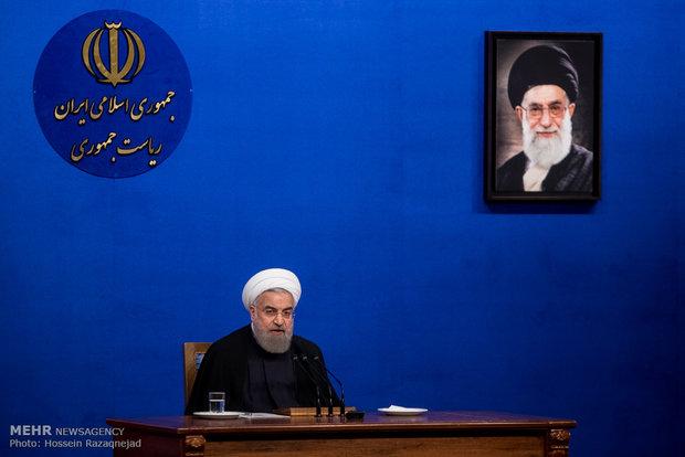 الرئيس روحاني:أميركا تدعم الارهاب وتضرب دولة ذات سيادة بحجج واهية