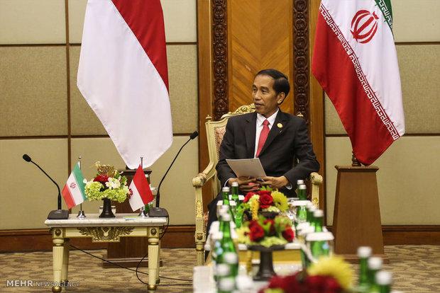 دیدار محمد جواد ظریف وزیر امور خارجه با رئیس جمهور اندونزی
