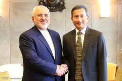 ایرانی وزیر خارجہ کی سینگا پور کے وزیر خارجہ سے ملاقات