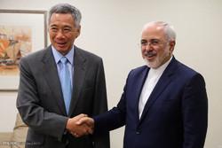 ایرانی وزیر خارجہ کی سینگا پور کے وزیر اعظم سے ملاقات