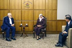 ایرانی وزير خارجہ کی سینگا پور کی اسپیکر سے ملاقات