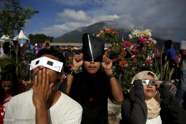 خورشید گرفتگی در اندونزی