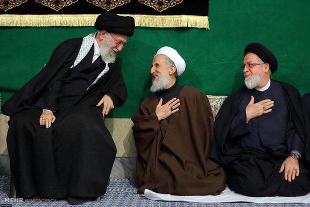 الليلة الاولى من مراسم العزاء باستشهاد فاطمة الزهراء (س) بحضور قائد الثورة الاسلامية