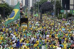 تظاهرات گسترده برزیلی ها در اعتراض به سیاست ریاضت اقتصادی دولت