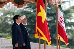 مراسم استقبال رسمی از رئیس جمهور ویتنام