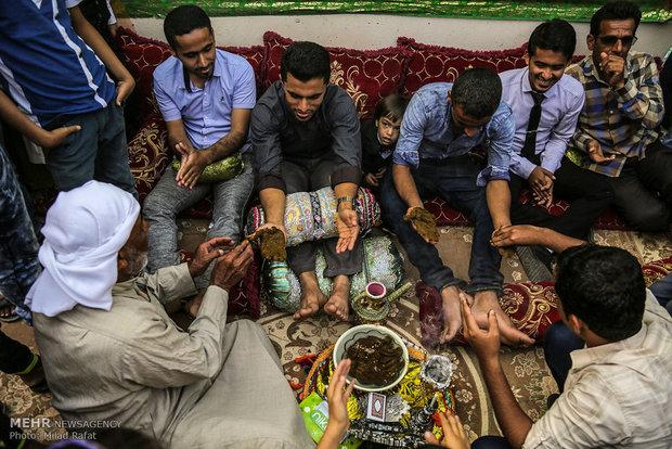 سومین مراسم ازدواج دسته جمعی در شهر عسلویه