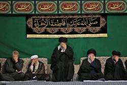اقامة آخر ليلة من مراسم العزاء باستشهاد الزهراء (س) بحضور قائد الثورة الاسلامية