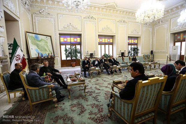 دیدار قائم مقام وزیر خارجه سوریه با علی لاریجانی رئیس مجلس شورای اسلامی